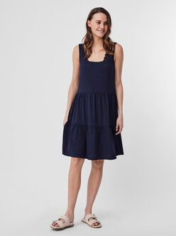 Alice crochet straps tiered dress