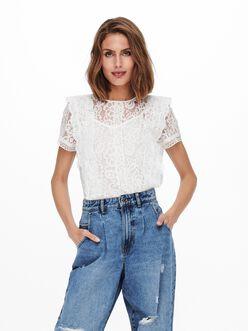 Lona lace overlay blouse