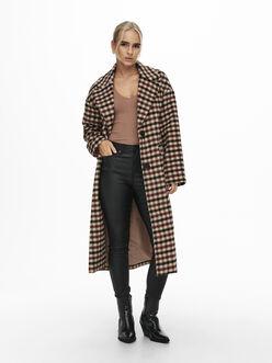 Daisy long check coat