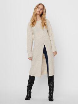Villa wool-blend slit dress