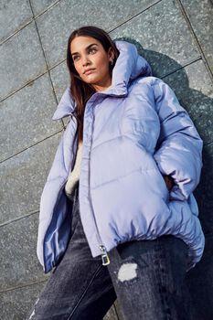 Alina hooded short puffer jacket
