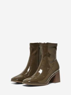 Bijou squared toe heeled sock boots