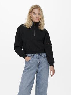 Gwen half-zip cropped sweatshirt