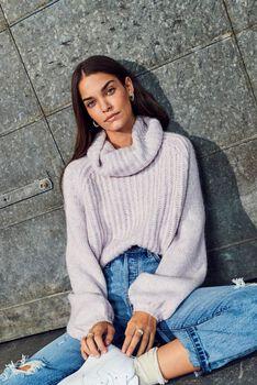 Scala roll neck rib-knit sweater