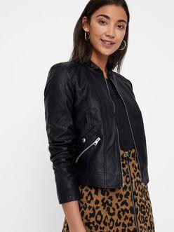 Khloe short faux leather jacket