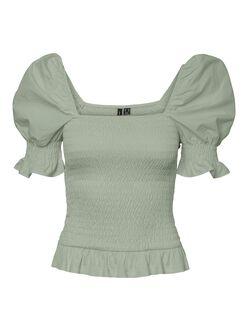 Katy square neck smock t-shirt