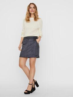 Donna Faux Suede Short Skirt