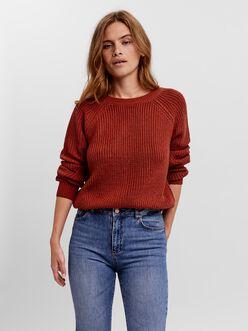 Lea v-back knit sweater