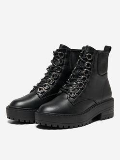 Brandy lace up combat boots
