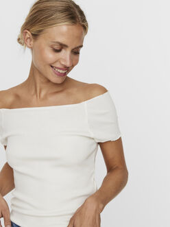 Lucinda off-shoulder frill t-shirt