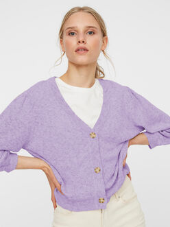 Annie v-neck buttoned knit cardigan