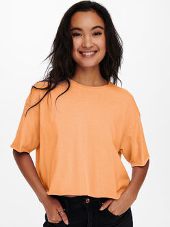 Earth boxy fit crop t-shirt