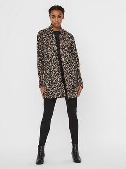 Katrine long leopard print brushed jacket