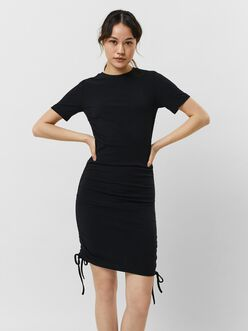 Brea ruched drawstring sides bodycon dress