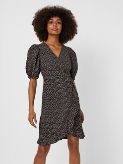 Belina ruffle wrap dress