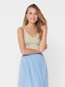 Lina front and back V-neckline knitted cami