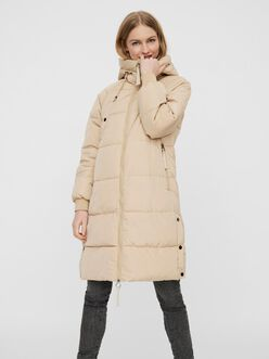 Laura long hooded puffer coat